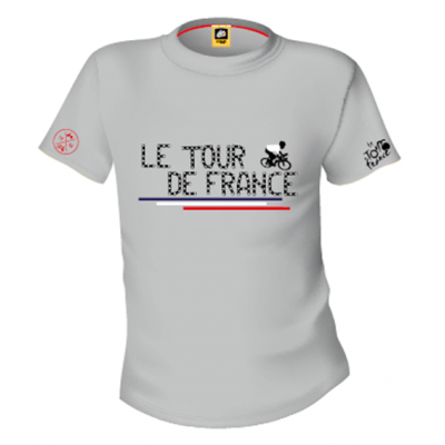 TRIČKO TOUR DE FRANCE CHAINE DE VELO - grey